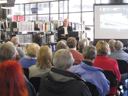 Gábor Tóth, local history specialist at Wellington City Libraries, talking about resources for genealogy research