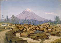 Parihaka, 1881 by George Clarendon Beale; Ref. A65.651; Collection of Puke Ariki, New Plymouth. Used with permission