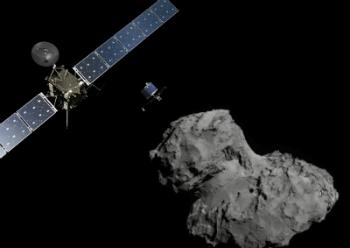Image: ESA/ATG medialab; Comet image: ESA/Rosetta/Navcam