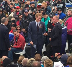 Prince Harry in the crowd