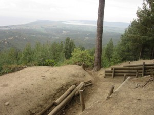 Trenches Chunuk Bair looking back towards Suvla Bay (3)