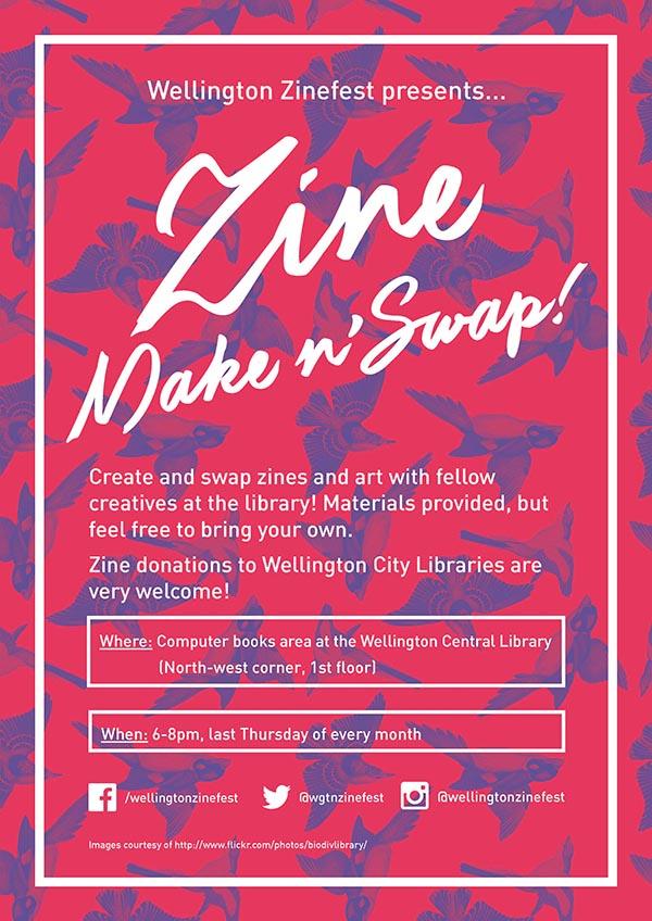 Zine make n swap poster