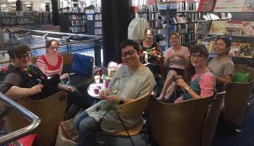 Knitting Group photo