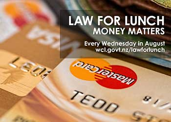 Law for Lunch: Money matters