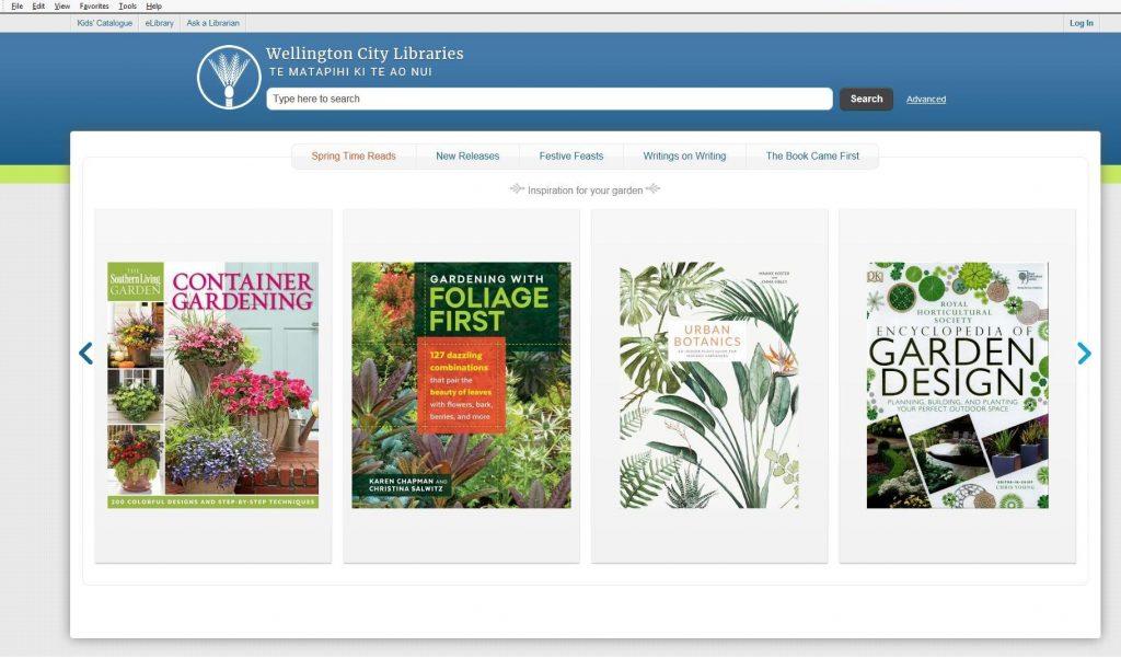 catalogue home page
