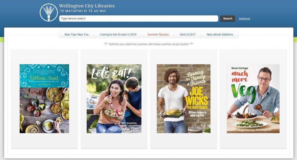 New catalogue home screen