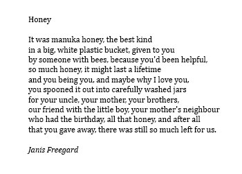 Janis Freegard poem