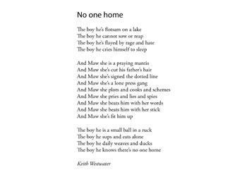 Keith Westwater poem