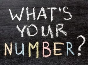 chalk board question what's your number?