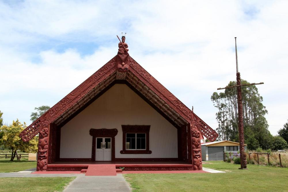 Image of Takitimu marae, named after the spot where Māui grounded his waka