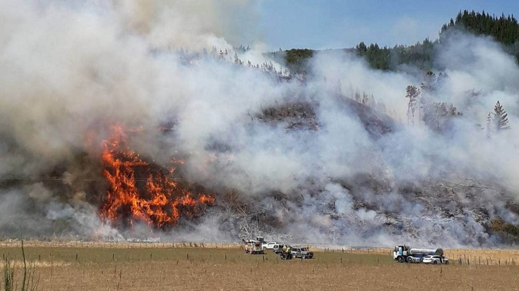 Destructive fire shown at Pigeon Valley 2020