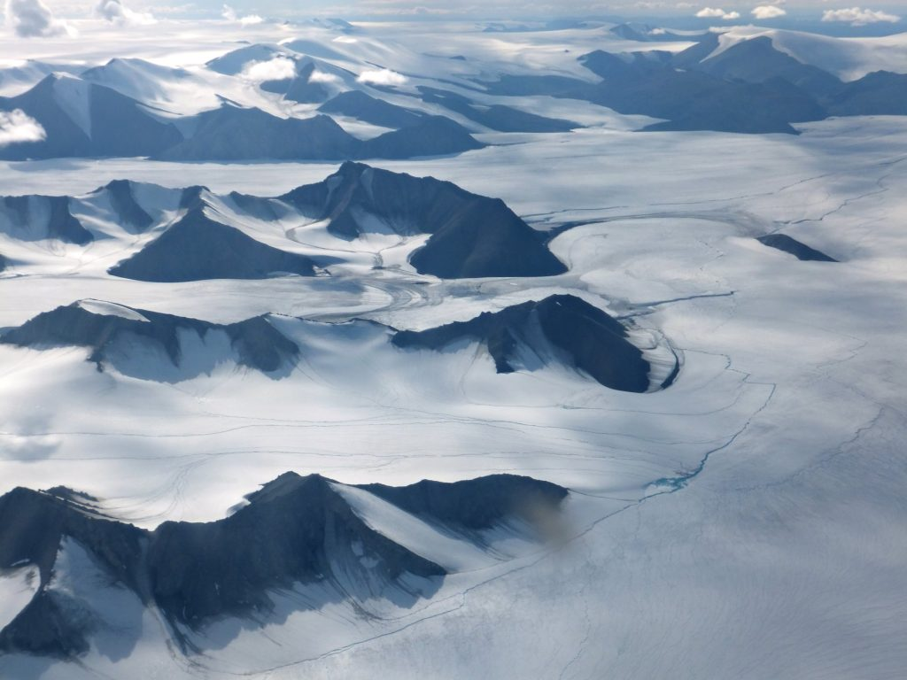 Image of the Agassix ice cap in northern Canada.