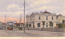 Public Library, Newtown, from the library's Postcard Collection