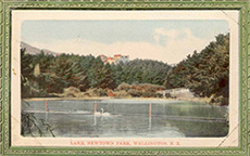 Lake, Newtown Park, from the library's Postcard Collection