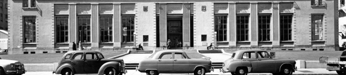 Wellington Central Library building in 1957