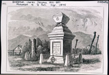 Monument to Te Puni (1877), an engraving by Charles Barraud