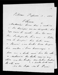 Letter from Te Puni to McLean, 7 Feb 1851