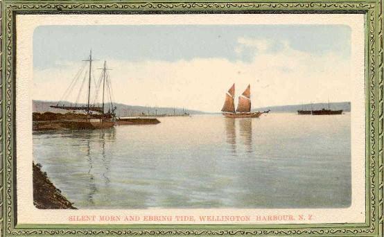 Silent morn and ebbing tide, Wellington Harbour, N.Z..