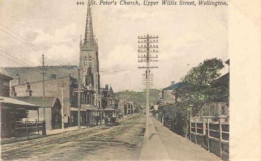 St. Peter's Church, Upper Willis Street, Wellington.