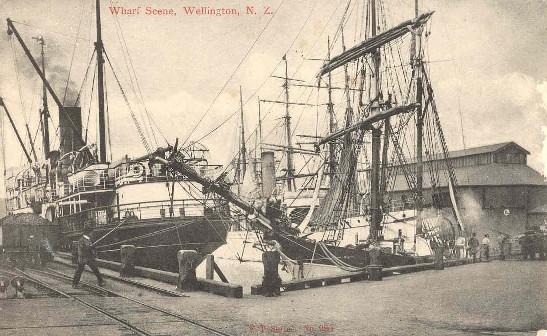 Wharf scene, Wellington, N.Z..
