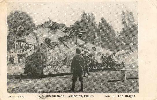 N.Z. International Exhibition, 1906-7.The dragonNo. 19, /Webb, photo.