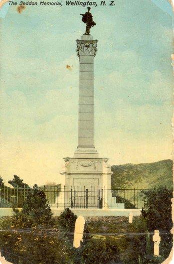 The Seddon Memorial, Wellington, N.Z..