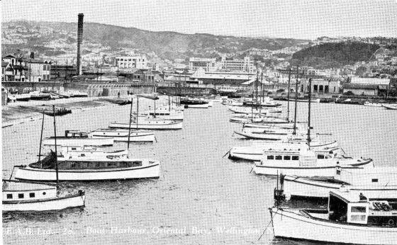 Boat harbour, Oriental Bay, Wellington, N.Z..