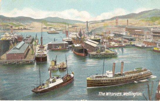 The wharves, Wellington.