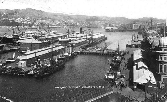 The Queen's Wharf, Wellington, N.Z..