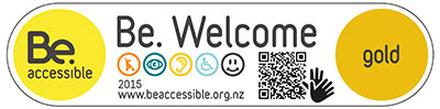 gold award from Be Accessible NZ