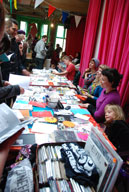 Stalls at the zinefest 2009