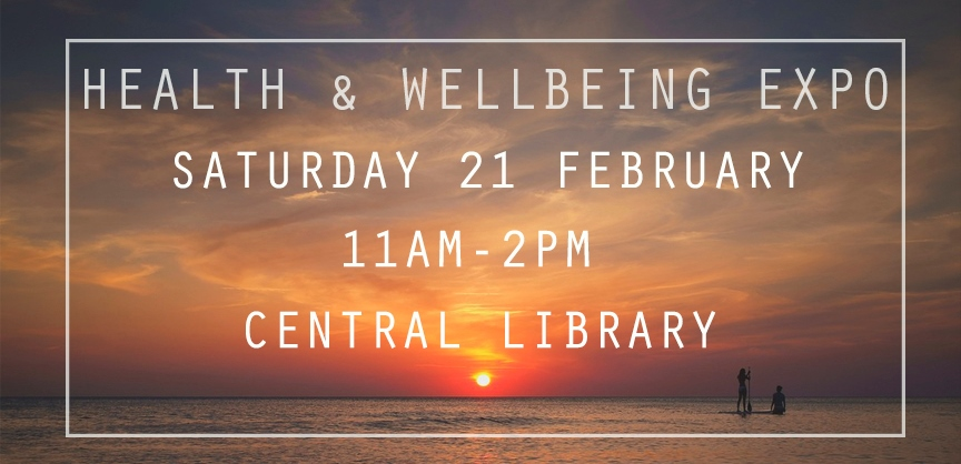 Health & Wellbeing Expo with white frame