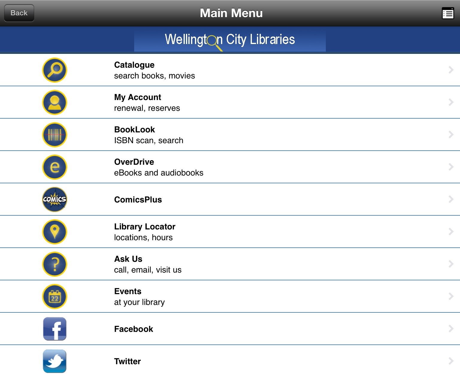 WCL app screenshot