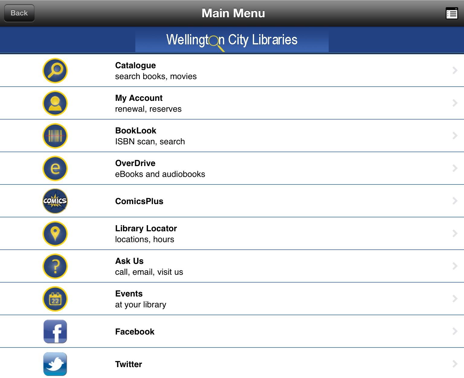 WCL app screenshot