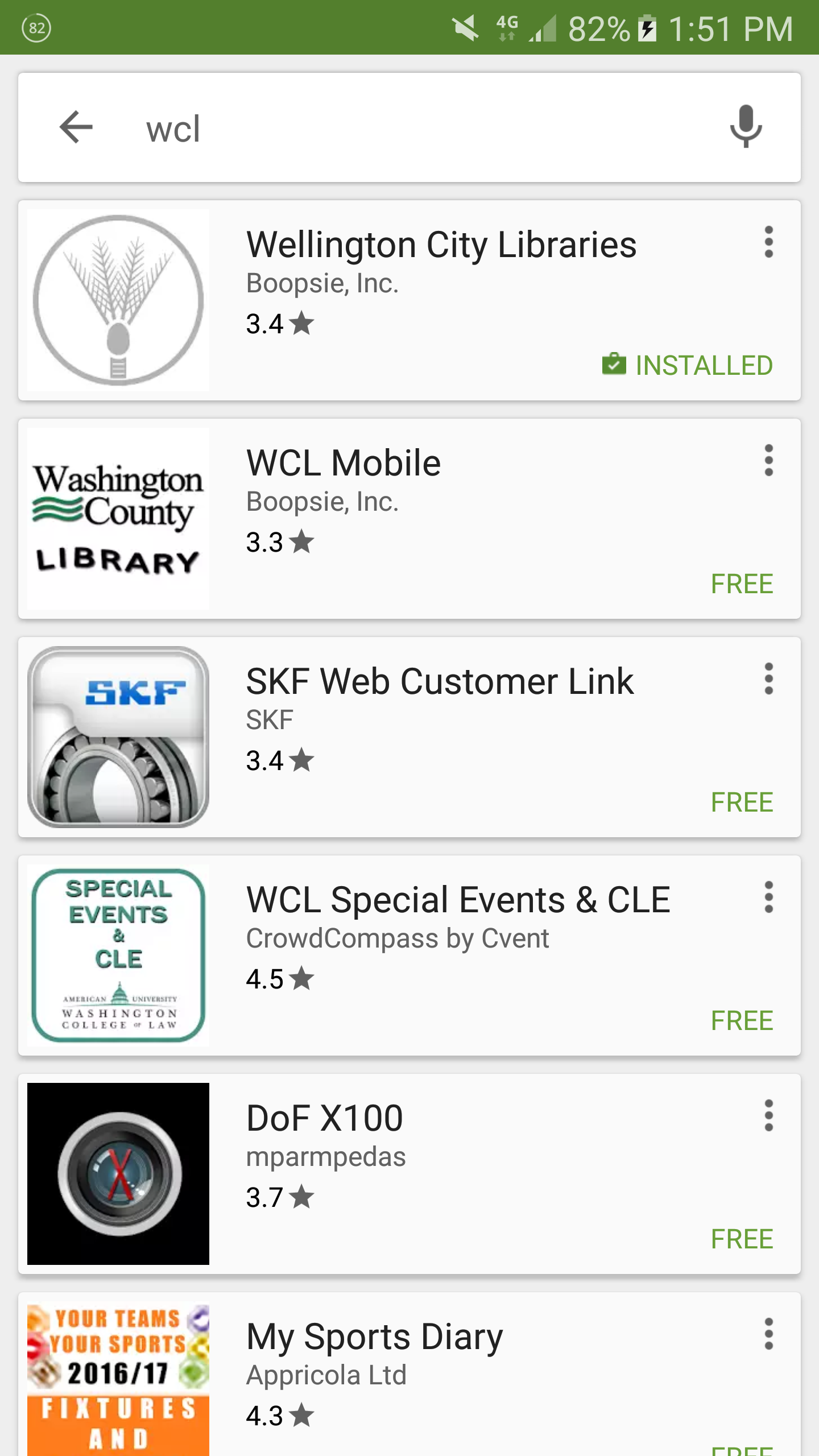 WCL Mini in Play Store