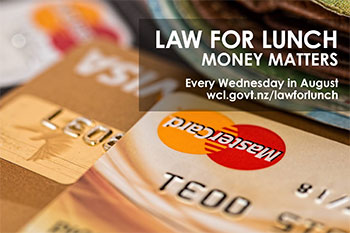 Credit and Debt – Law for Lunch this week