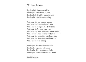 Keith Westwater poem