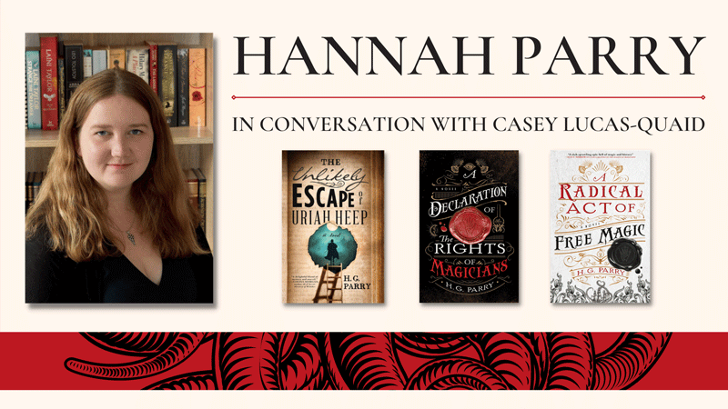 Facebook event for Hannah Parry, in conversation with Casey Lucas-Quaid