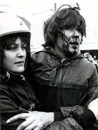 Protesters And Red Squad Police Clashed At The Luxford Street Rintoul Intersection During Anti Springbok Tour Demonstrations In Wellington 1981