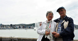 Éva and George in Oriental Bay, Wellington